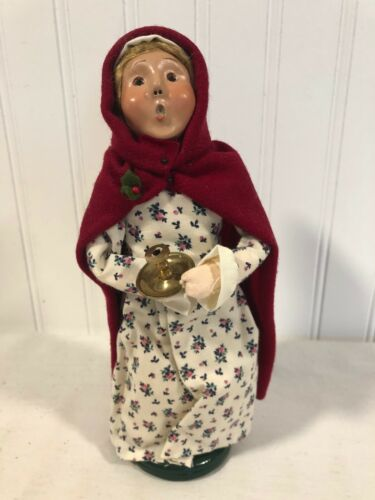 Sweet BYERS CHOICE 2000 Especially made WILLIAMSBURG Lady Candle Stick holder
