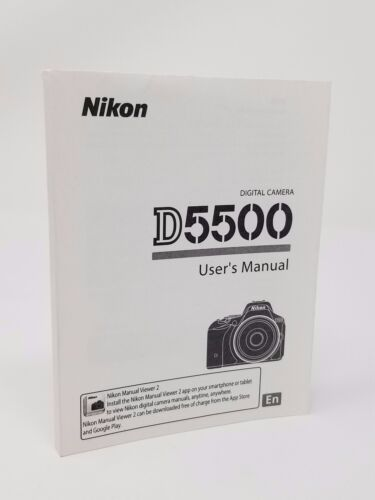 Nikon D5500 5500 Instruction Owners Manual D5500 Book NEW