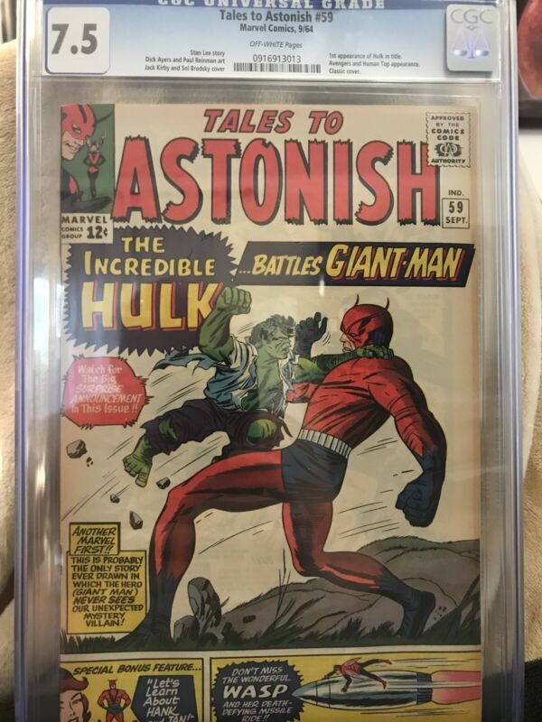 TALES TO ASTONISH #59 Comic CGC 7.5 Marvel 1964 Silver Age INCREDIBLE HULK Kirby