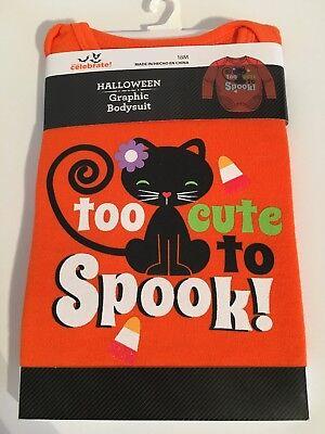 Halloween Graphic Size 18 M Orange Long Sleeve