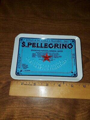 S. Pellegrino Ashtray Plastic Vtg Advertising Ash Tray Water