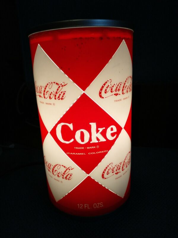 """COCA-COLA CokCan Electric Lamp Plastic Rotating Sparkling Spin Motion 10"""""""