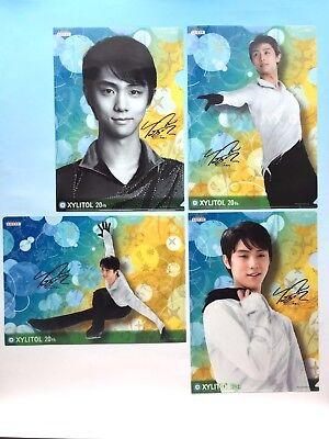 【4pcs】YUZURU HANYU Clear file set LOTTE XILITOL 20th male figure skater Japan FS
