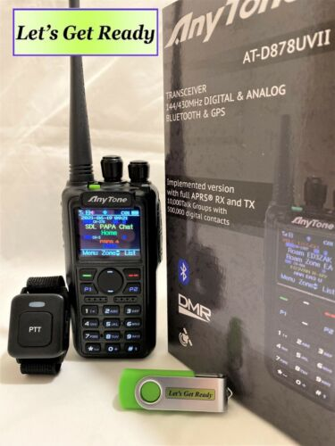 AnyTone AT-D878UV II Plus (New Version) With GPS, Bluetooth, APRS,    US Seller