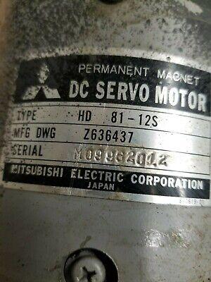 Dc Servomotor Permanent Magnet Hd 81-12s Mitsubishi
