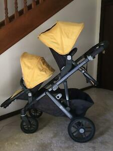Uppababy Vista Double Pram with Rumble Seat