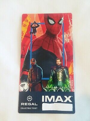 SPIDER-MAN FAR FROM HOME MARVEL Collectible Regal IMAX Ticket Best SPIDERMAN