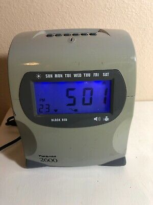 Pyramid 2600 Digital Time Punch Clock Recording - No Key