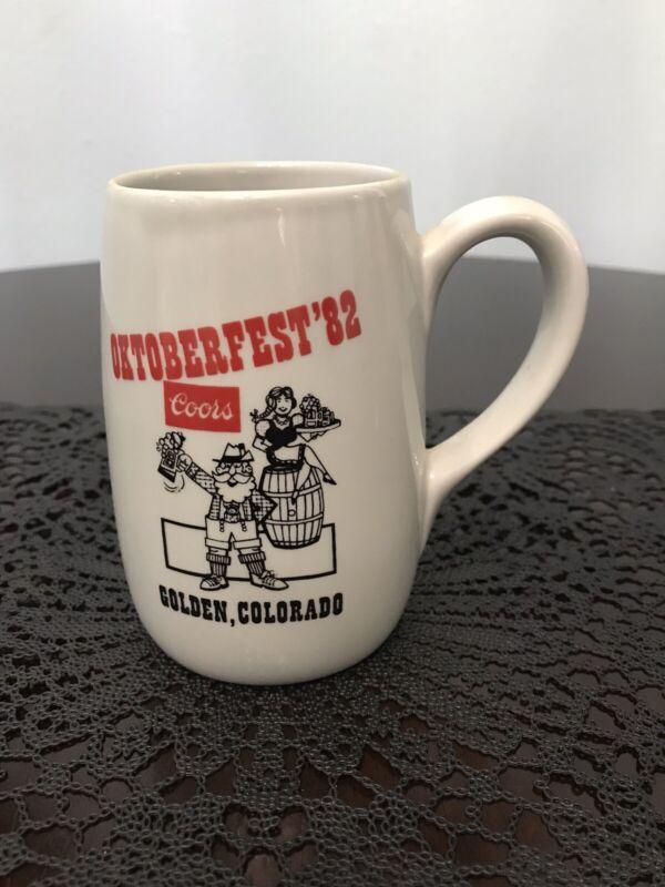 1982 Coors Beer Oktoberfest Golden Colorado Gray Mug
