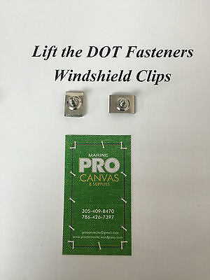 "Lift the Dot Fasteners Stainless Steel Windshield Clips 3/4"" 75 pieces"