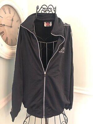 Kappa Large L Black White Full Zip track jacket