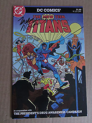 The New Teen Titans 1983 Drug Awareness Campaign Signed Marv Wolfman Vf Nm