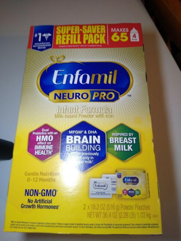 Enfamil NeuroPro Infant Formula Powder XL Refill Box 36.4oz super saver 2 x 18.2