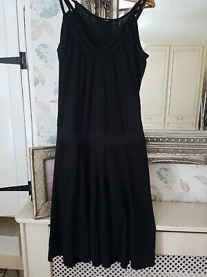 HURLEY' LADIES  BLACK STRAPLESS SUMMER DRESS LARGE WITH MODAL