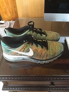 Nike Flyknit Air Max Multi Colour Men's US size 13