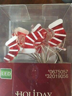 CHRISTMAS MINI STOCKING LIGHTS 24 CT. LED BATTERY OPERATED](Led Christmas Stockings)