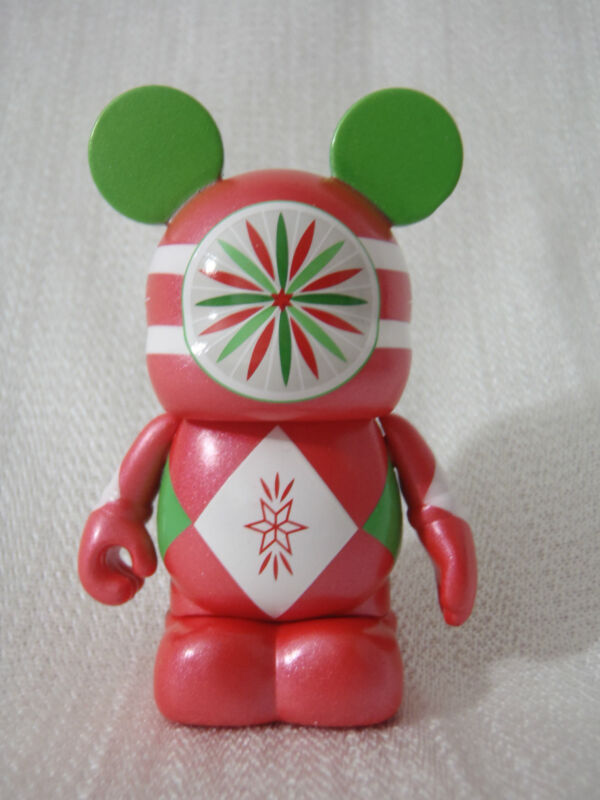 "2011 Disney Vinylmation Holiday #3 Christmas RED ORNAMENT 3"" Mickey Mouse Figure"
