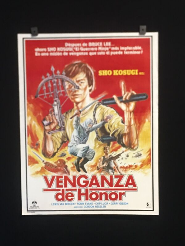 1987+RAGE+OF+HONOR+Sho+Kosugi+Authentic+Original+Mexican+Movie+Poster+%7E17%22x22%22