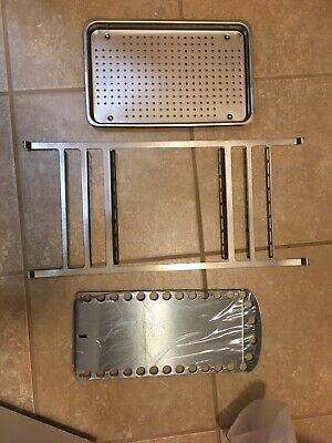 New Midmark Ritter M9 Autoclave Rack Bottom Tray And One Large Tray
