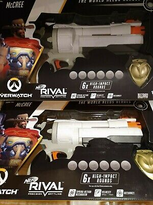 2 X New Rival Overwatch McCree Blaster Hand Cannon Toy Guns Cosplay Steampunk