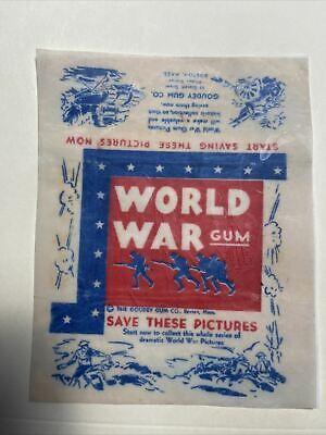 1933 WORLD WAR GUM R174 WAX WRAPPER PRINT GOUDEY GUM COMPANY