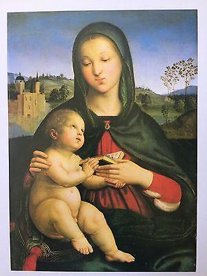 """Raffaello Sanzio """"Madonna And Child With Book"""" & More Reprint"""