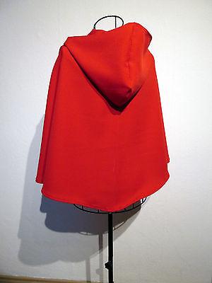 Rotkäppchen roter Umhang m. Kapuze Kostüm Cape Fasching - Roter Umhang Kostüme