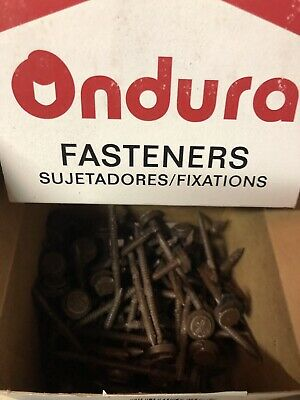 Ondura 3 Brown Roofing Nails Fasteners W Washers - Box Of 100 - Item 3208