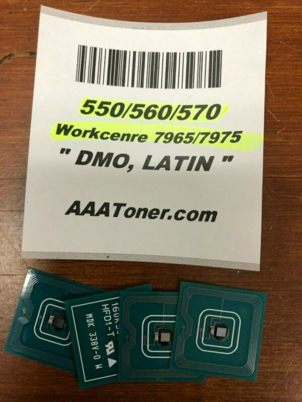 4 x Toner Chip (1529 - DMO) for Xerox 550, 560, 570 WC 7965, 7975 Refill