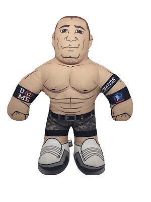 "2012 16"" Mattel WWE Wrestling Brawlin Buddies John Cena Plush Talks Tested"