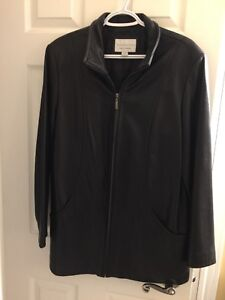 Ladies size large leather jacket for sale