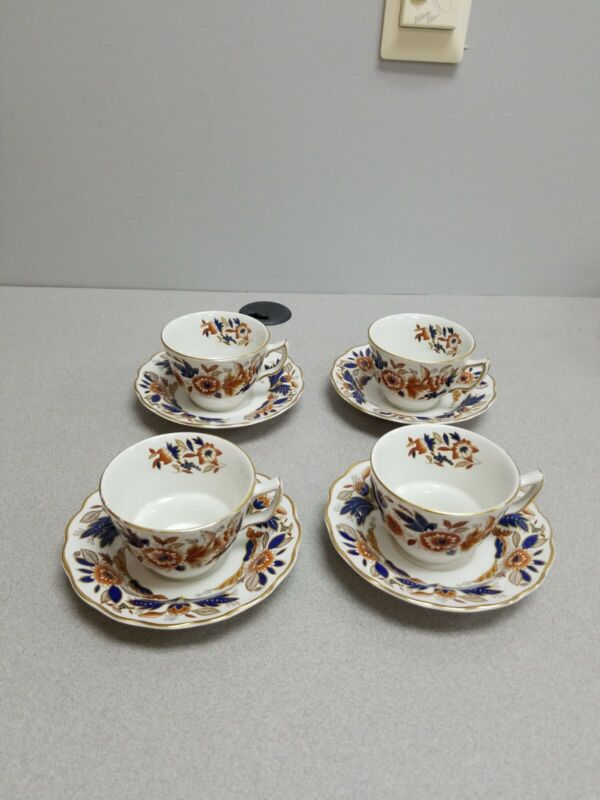 4 Booths Dovedale Cups and Saucers