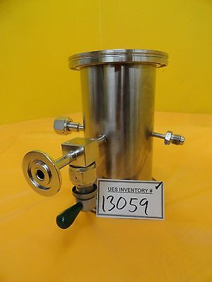 Mks High Vacuum Tube Tee Stainless Iso100 4vcr 8vcr Nw25 Nupro Ss-dltw4 Used