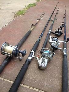 FISHING GEAR EVERYTHING Four rods and Four reels Alexander Heights Wanneroo Area Preview
