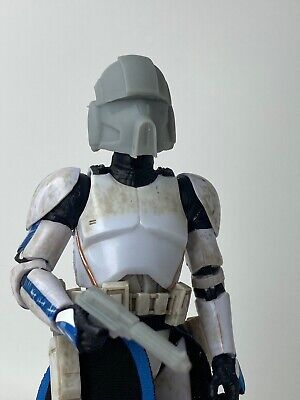 "Custom Star Wars Clone Trooper Pilot Phase 2 Helmet & Chest Black Series 6"" 1/12"