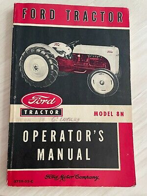 Original 1952 Ford Tractor Operators Manual For Model 8n Tractor