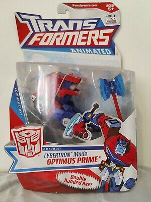 Transformers Animated CYBERTRON MODE OPTIMUS PRIME Deluxe Class RARE MISB C-9.5