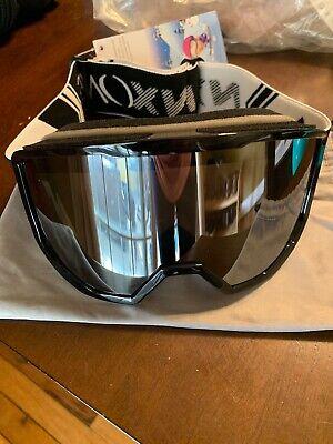 NXONE Ski Snowboard Google Black Frame  Mirror Lens & Case OTG Over Glasses