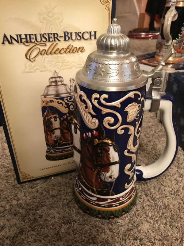 Anheuser Busch Collection 2003 Clydesdales On Parade CS610 Stein Large W/ Box CO
