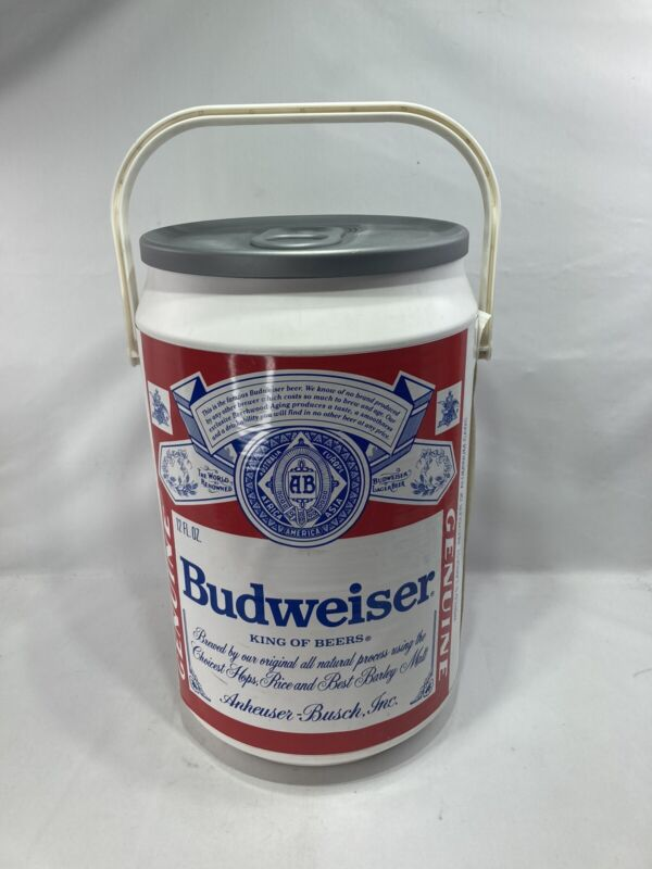 """Budweiser Large Beer Can Cooler Vintage 21"""" Collectible 1997 Kooler Kraft"""