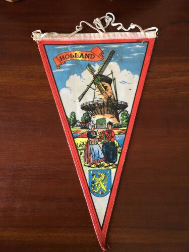 Vintage European travel Pennants/Flags Holland/Nederlands