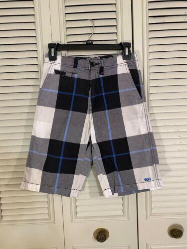 VANS BOYS Shorts Size 12 -  Plaid- Great Condition!