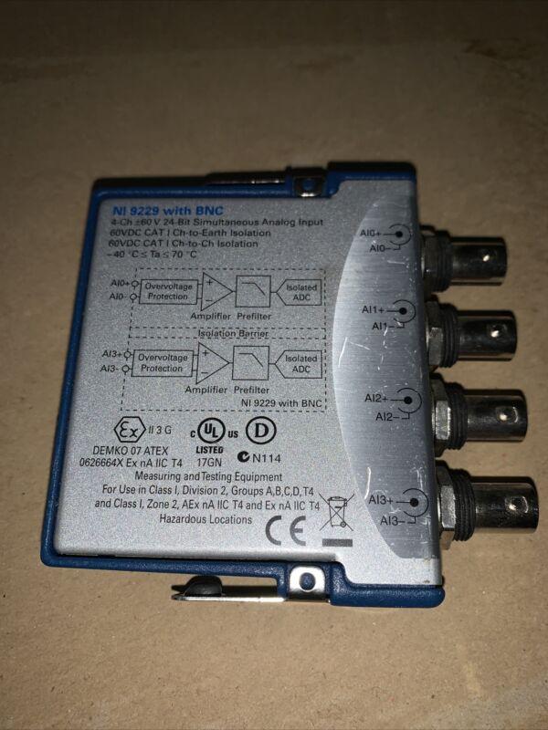 National Instruments NI 9229 W/ BNC 4 Ch Analog Input Module