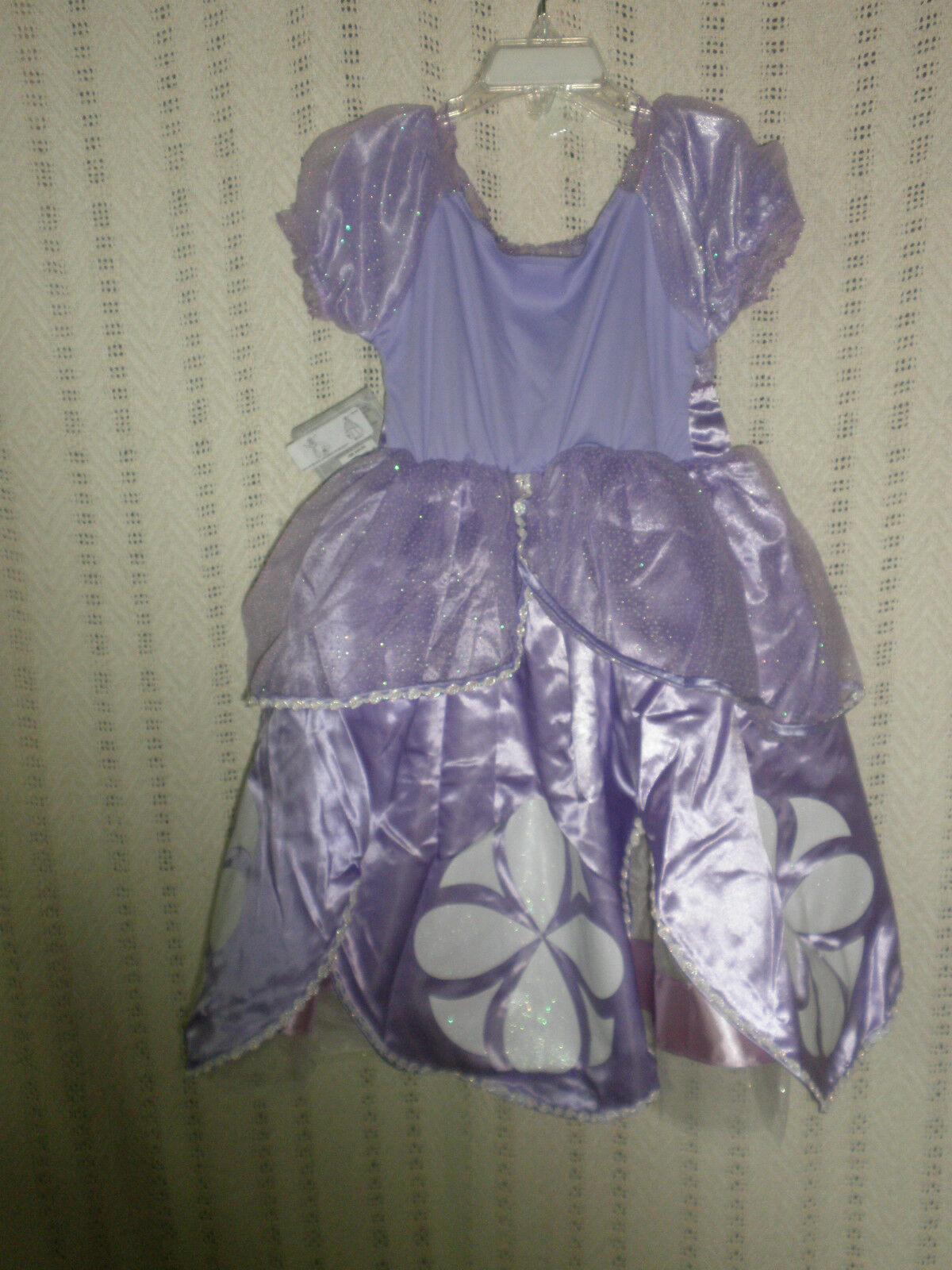 DISNEY STORE PRINCESS Sofia The First Gown Costume Size 4 & Amulet ...