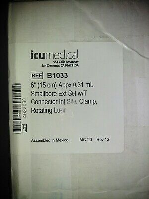 New Icu Medical B1033 - Iv Ext Set Wclamp Rotluer 6 Minibore 50ca