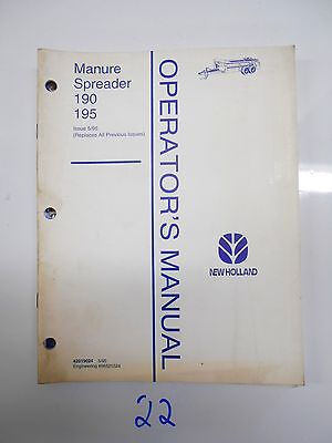 New Holland 190 195 Manure Spreader Operators Manual 42019024 595
