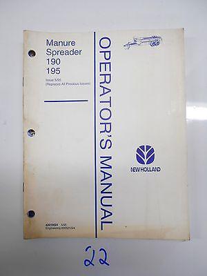 New Holland 190 195 Manure Spreader Operators Manual 42019024 595