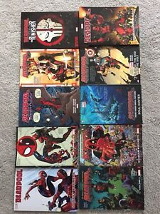 Deadpool graphic novels/ Spider-Man / Punisher