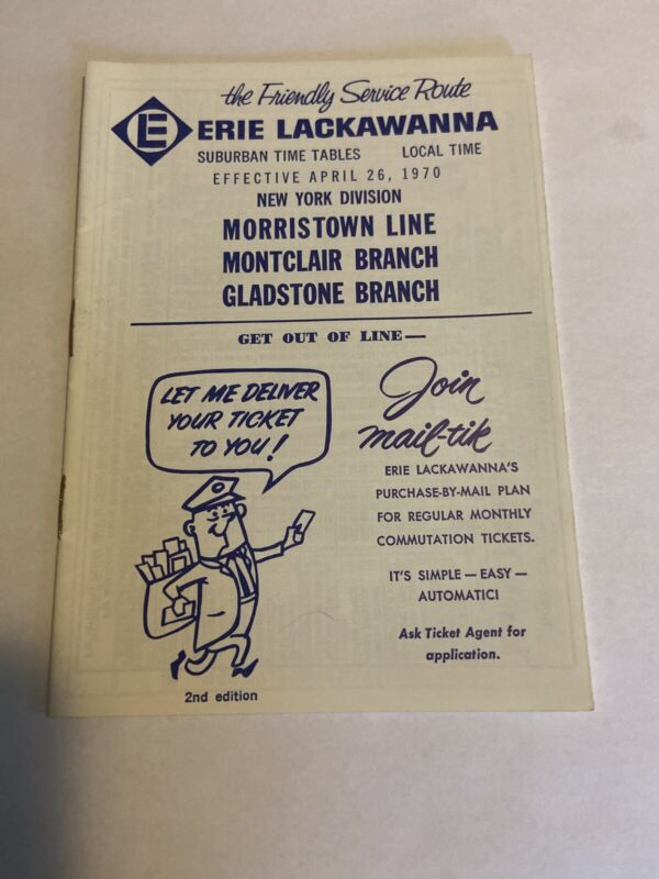 April 26, 1970 Erie Lackawanna New York Division Commuter Timetable