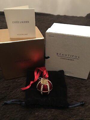Estee Lauder Beautiful Jeweled Ornament Compact for Solid Perfume 2007 NIB